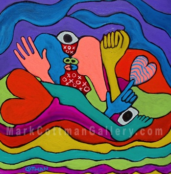 Lovers Holiday 24 x 24 acrylic on canvas